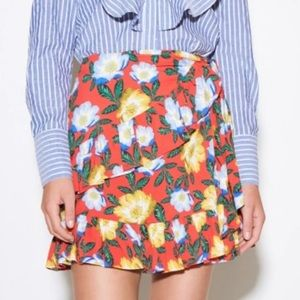THE FIFTH Reunion Floral Wrap Skirt